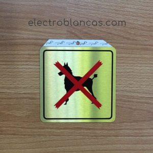 placa adhesiva prohibido perros - electroblancas