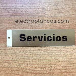 placa adhesiva SERVICIOS basica - ref. 43248 - electroblancas
