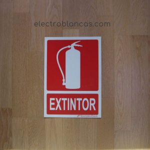 placa termo luminiscente extintor - ref. 98393 - electroblancas