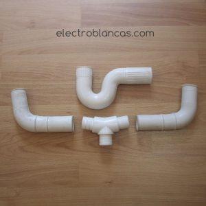sifon doble desagüe 35mm. blanco ref. 00083 - electroblancas