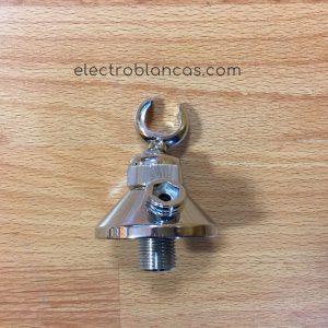 soporte ducha laton cromo con toma ref. 00111 - electroblancas