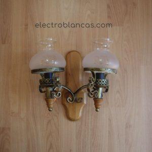 aplique doble esduber tuilpas - electroblancas