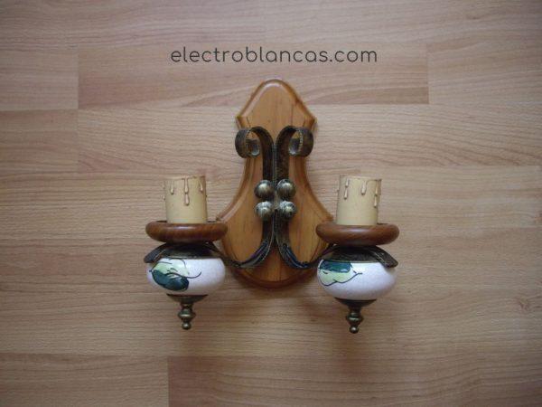 aplique doble rústico 2x40w. E27 - electroblancas