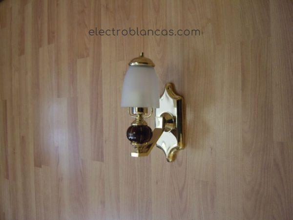 aplique mural 1x--w. dorado - electroblancas