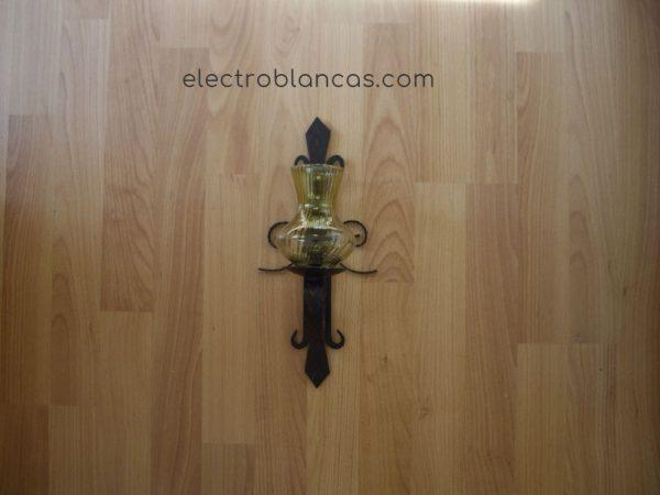 aplique mural simple forja amarillo ref. 00156 - electroblancas